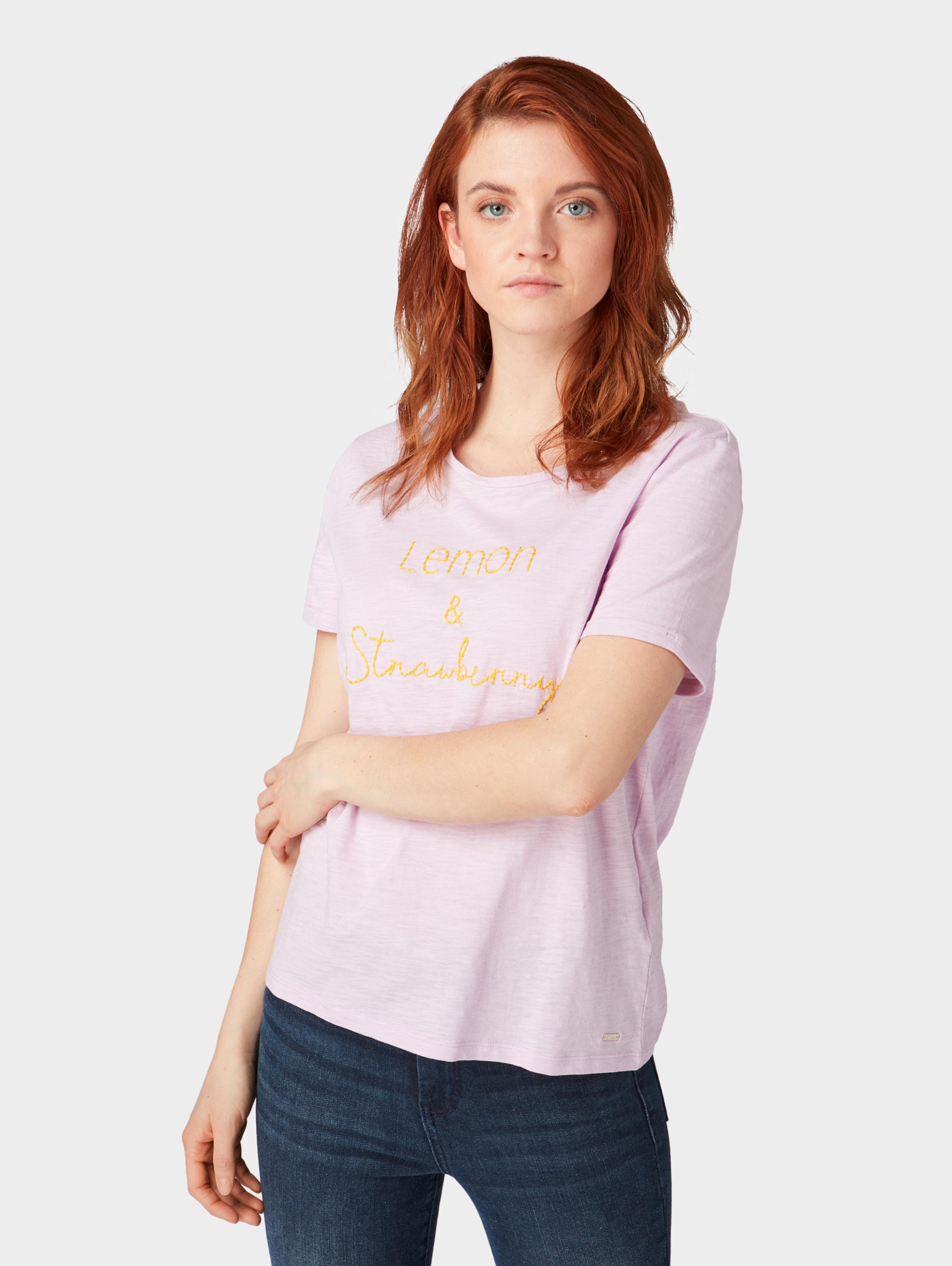 T shirt In GelbRosa Denim Tom Tailor N0w8nvm