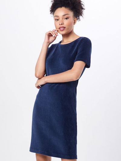 EDC BY ESPRIT Kleid 'corduroy dress' in navy, Modelansicht
