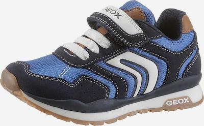GEOX Kids Sneaker in blau / navy / hellbraun / weiß, Produktansicht
