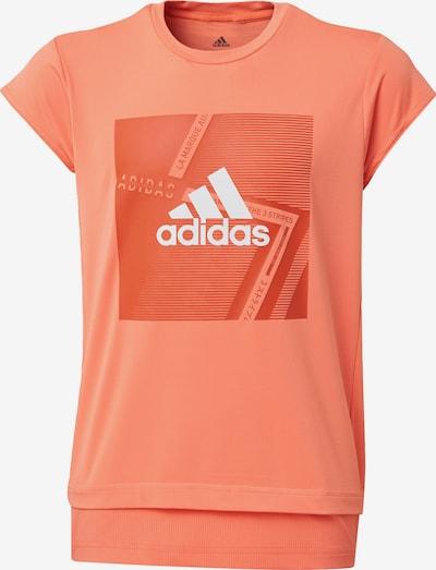 ADIDAS PERFORMANCE Shirt in lachs / dunkelorange / weiß, Produktansicht