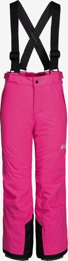 JACK WOLFSKIN Hose 'Powder Mountain' in pink / schwarz, Produktansicht