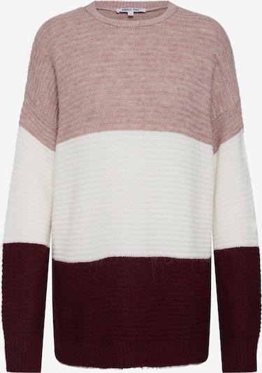 ABOUT YOU Pullover 'Larissa' in creme / rosa / bordeaux, Produktansicht
