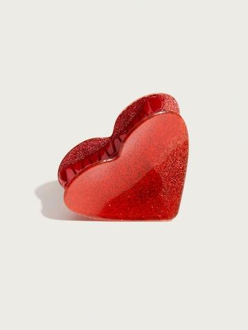 Pico for EDITED Haarklammer 'Heart' in Rot
