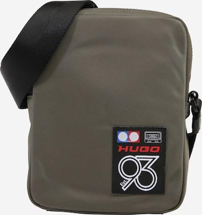 HUGO Umhängetasche  'Record 93' in dunkelgrün, Produktansicht