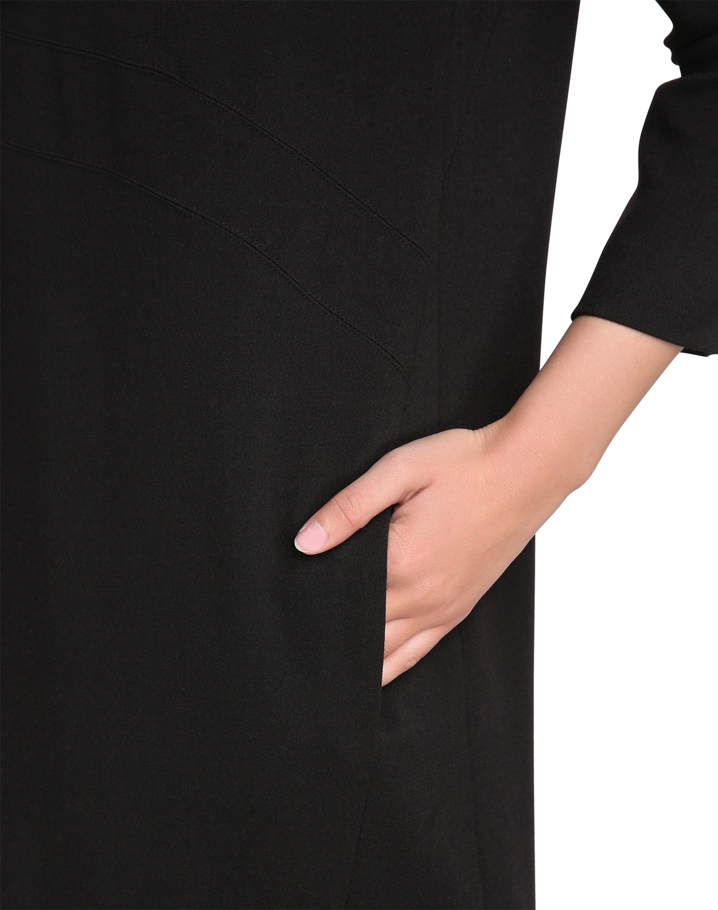Schwarz Apart bootausschnitt Mit Kleid In U Pk0OZN8Xnw