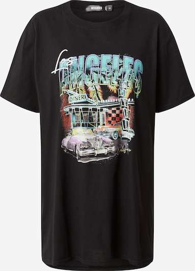 Missguided T-shirt oversize en mélange de couleurs / noir, Vue avec produit