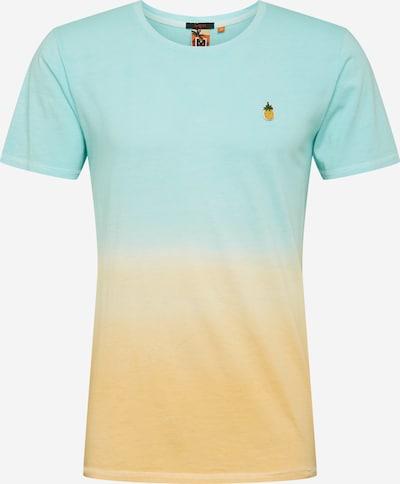 Hailys Men T-Shirt in hellblau / apricot, Produktansicht