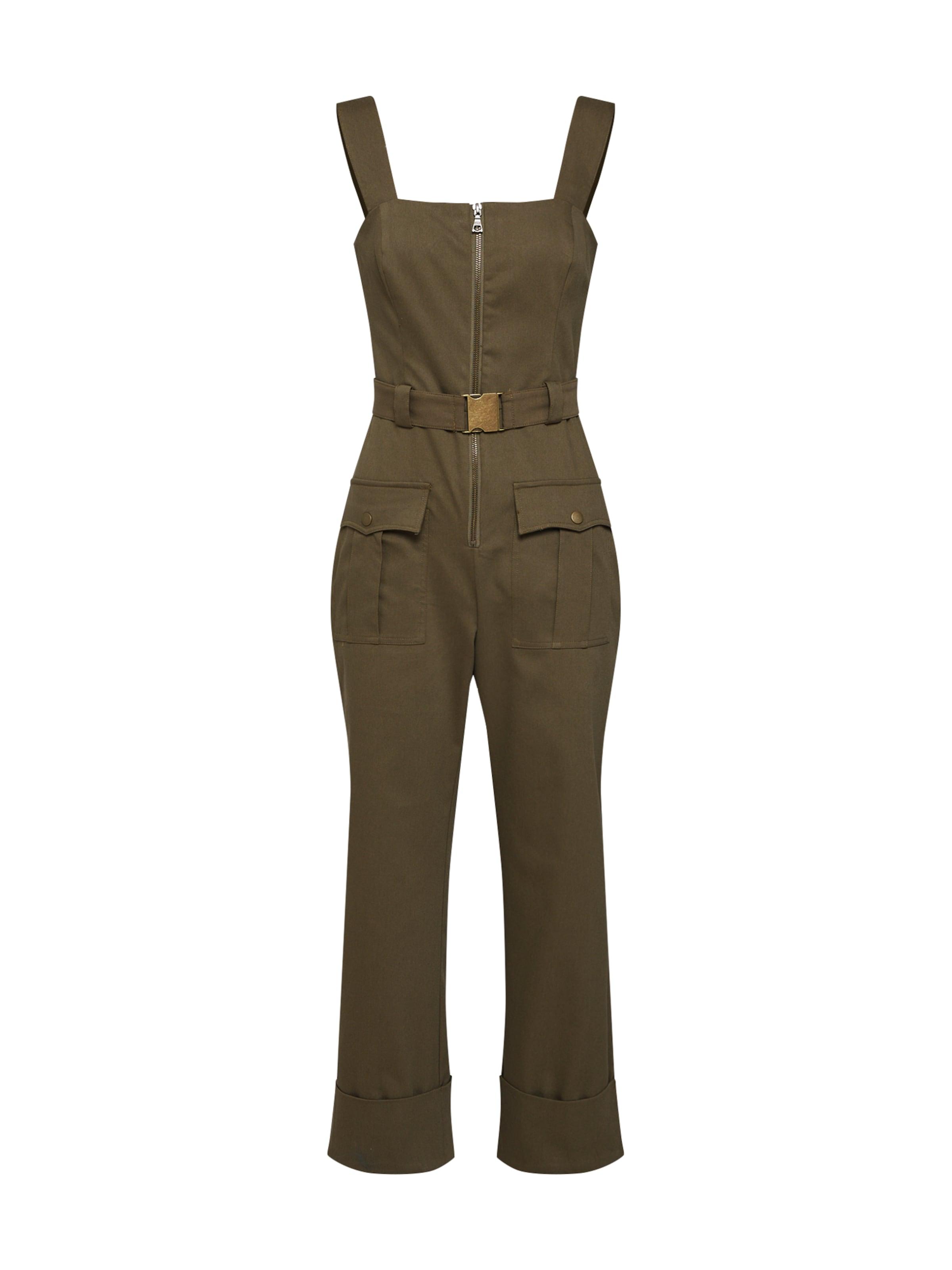 'buckle Overall Bardot Khaki Jumpsuit' In qSUMpGzV