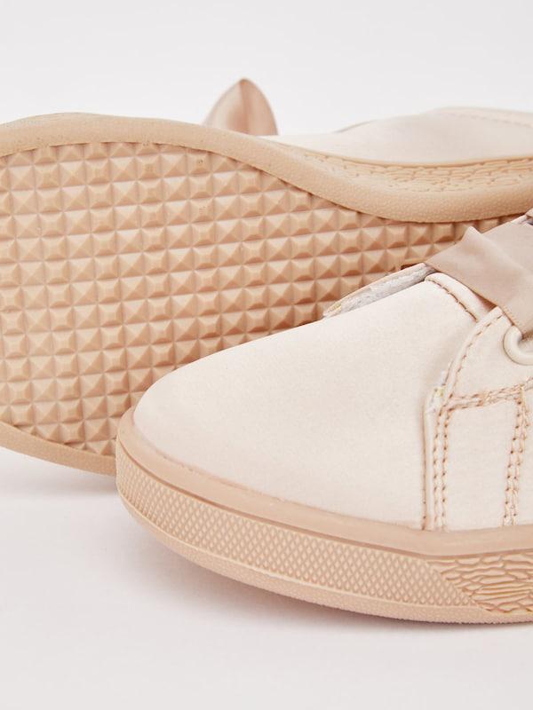 Bianco Satin Sneaker