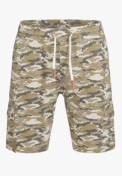 INDICODE JEANS Shorts 'White Rock' in beige / sand / grau, Modelansicht