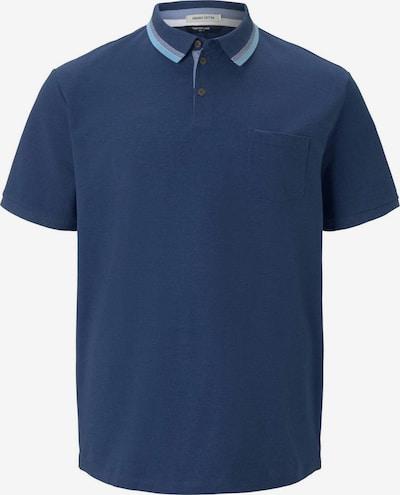 TOM TAILOR Men Plus Poloshirt in blau / taubenblau, Produktansicht