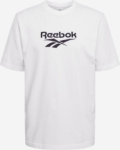 Reebok Classic Shirt 'PREMIUM VECTOR' in schwarz / weiß, Produktansicht