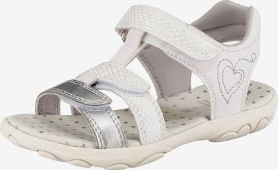 GEOX Sandalen 'Cuore' in silber / weiß, Produktansicht
