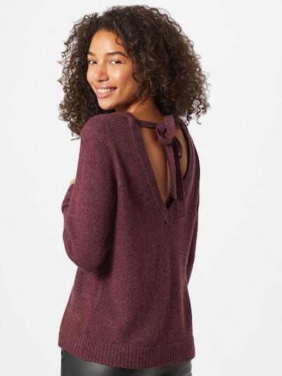 VILA Pullover in weinrot, Modelansicht