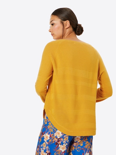 ONLY Pullover 'CAVIAR' in gelb: Rückansicht