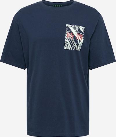 Urban Threads T-Shirt in dunkelblau / rot / weiß, Produktansicht