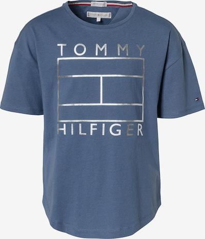 TOMMY HILFIGER T-Shirt in taubenblau / silber, Produktansicht