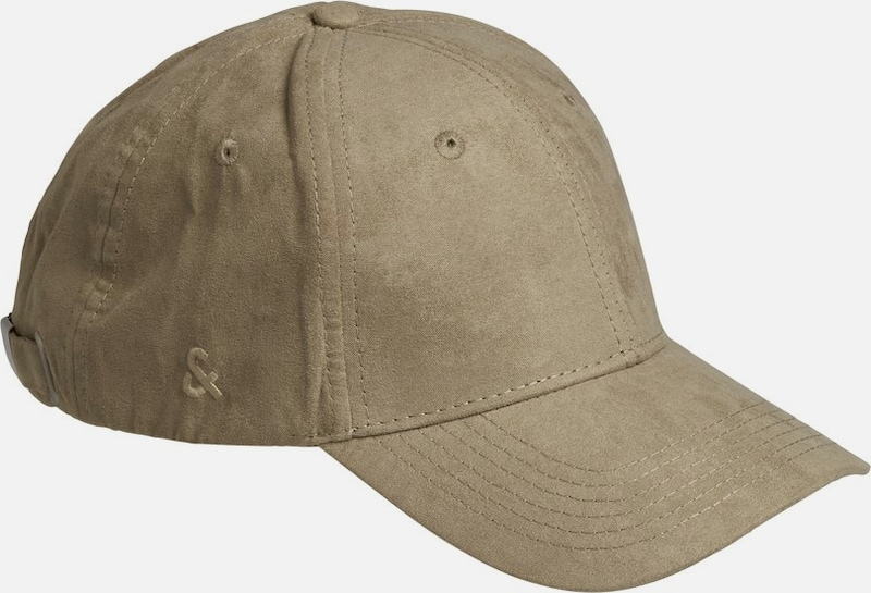 JACK & JONES Cap 'Tylor Suede Baseball' in hellbraun: Frontalansicht