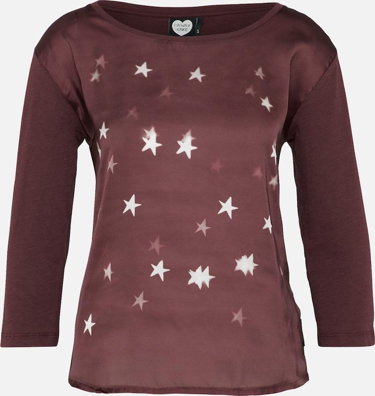 Junkie T Bourgogne shirt 'stars' Catwalk En 9EDHW2I