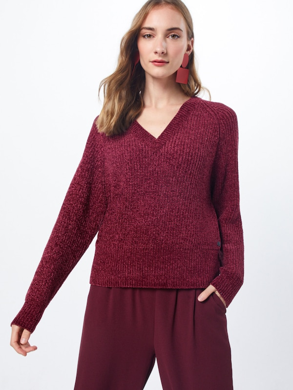 REPLAY Pullover 'Masche' in rot, Modelansicht