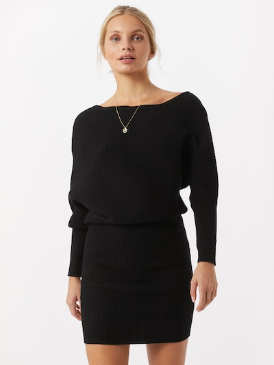 Megzta suknelė iš Parallel Lines , spalva - juoda, Modelio vaizdas