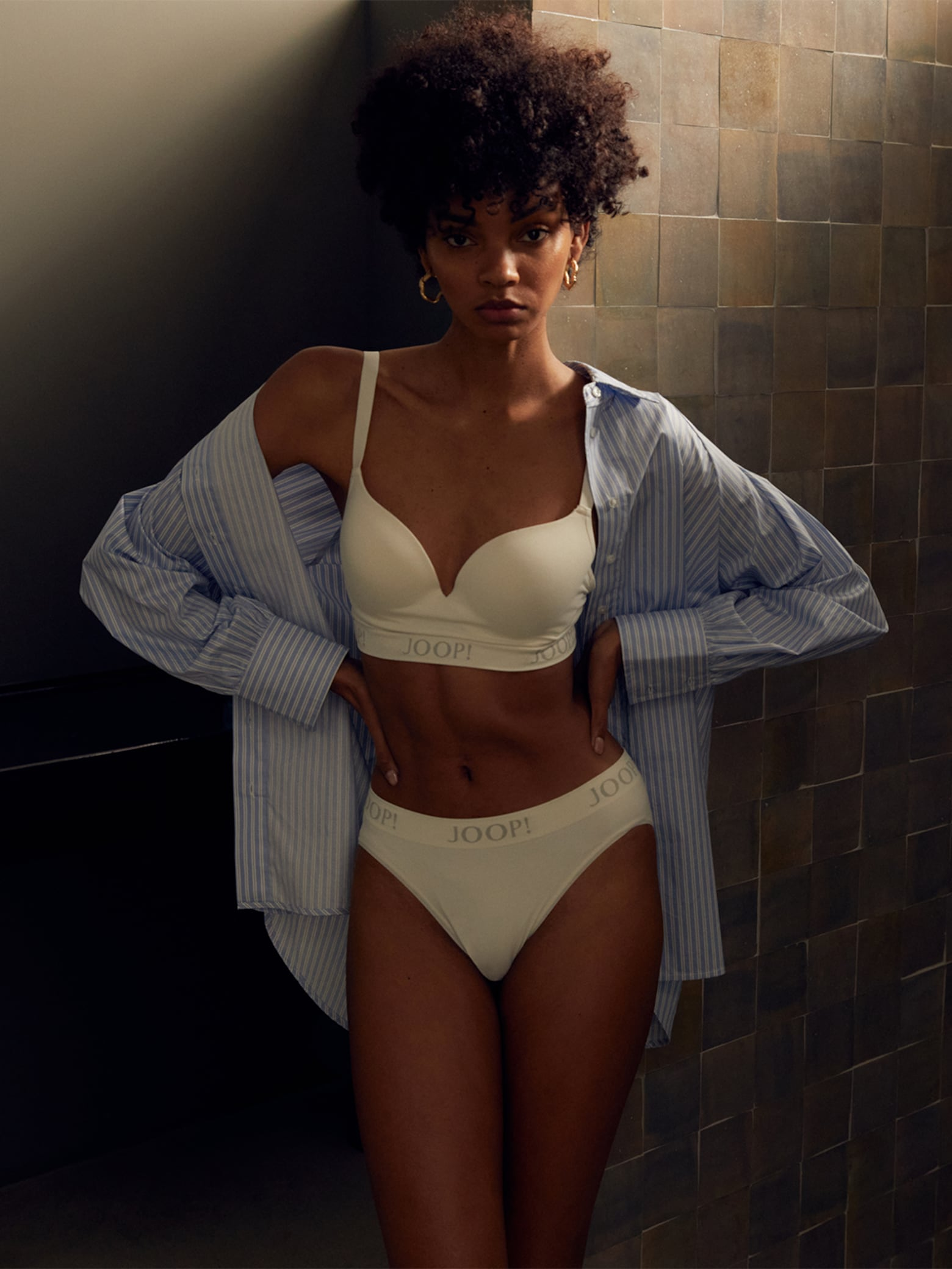 Djenice A. - Basic White Lingerie Look