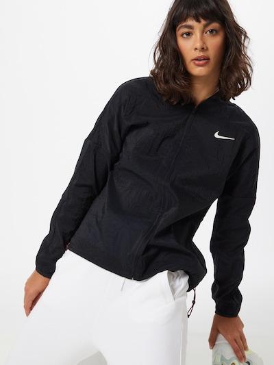 NIKE Športna jakna 'Icon Clash' | roza / črna / bela barva: Frontalni pogled