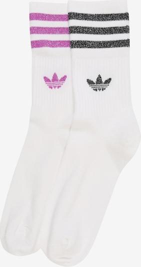 ADIDAS ORIGINALS Socken 'MID CUT GLT SCK' in lila / schwarz / weiß, Produktansicht
