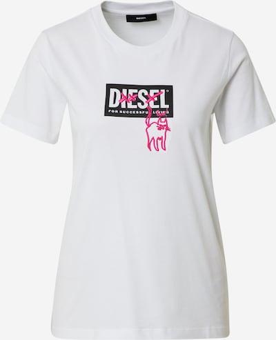 rózsaszín / fekete / fehér DIESEL Póló, Termék nézet