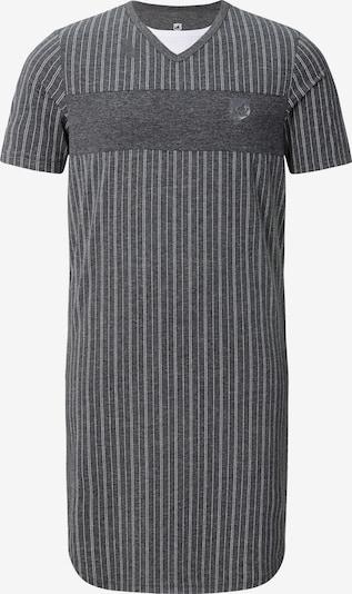 Jan Vanderstorm Pyjama kort 'Banke' in de kleur Grijs gemêleerd / Wit, Productweergave