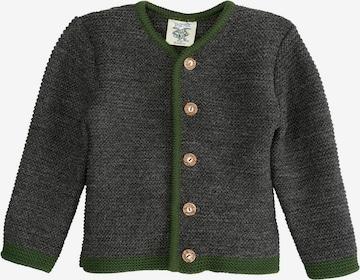 Isar-Trachten Knit Cardigan in Grey