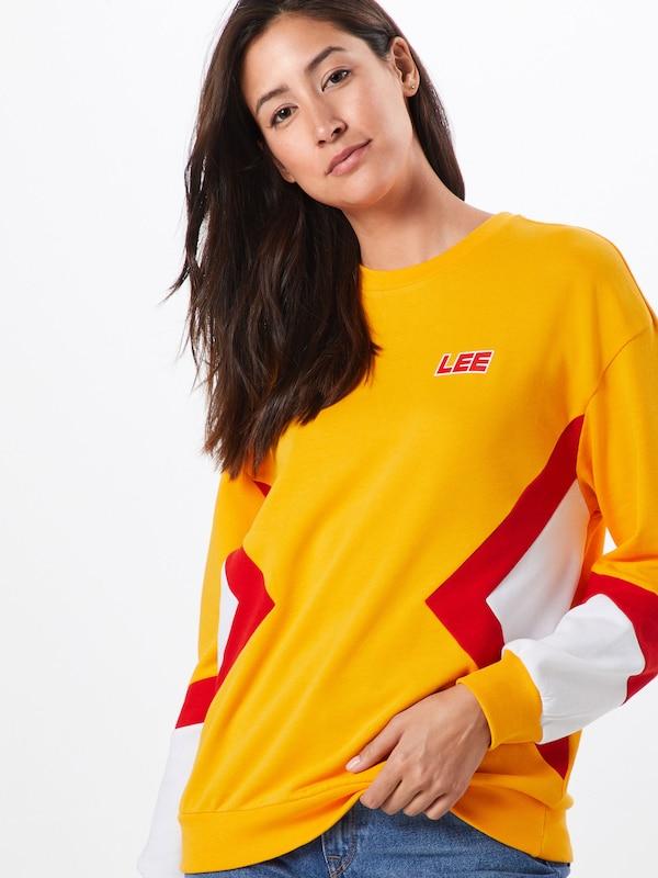 Blanc shirt Lee Sweat 'seasonal Clair En Jaune D'orRouge Sws' WD2IEYbe9H