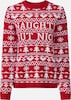 Fashion Union Pullover 'NAUGHTY' in rot