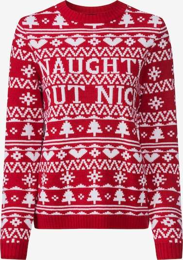 Fashion Union Pullover 'NAUGHTY' in rot, Produktansicht