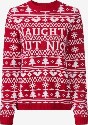 Fashion Union Džemperis 'NAUGHTY' pieejami sarkans: Priekšējais skats