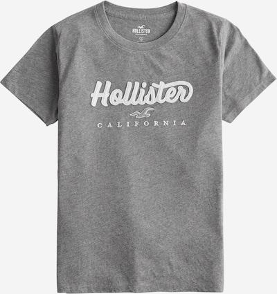 HOLLISTER T-shirt en gris chiné / blanc, Vue avec produit