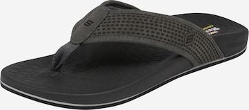 SKECHERS T-Bar Sandals 'Thong' in Grey