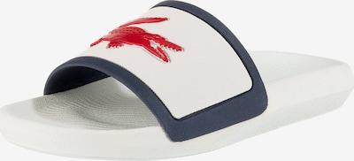 LACOSTE Croco Slide Tri 3 Cfa Pantoletten in blau / rot / weiß, Produktansicht