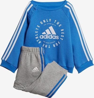 ADIDAS PERFORMANCE Jogginganzug '3S Jogg' in blau / graumeliert / weiß, Produktansicht