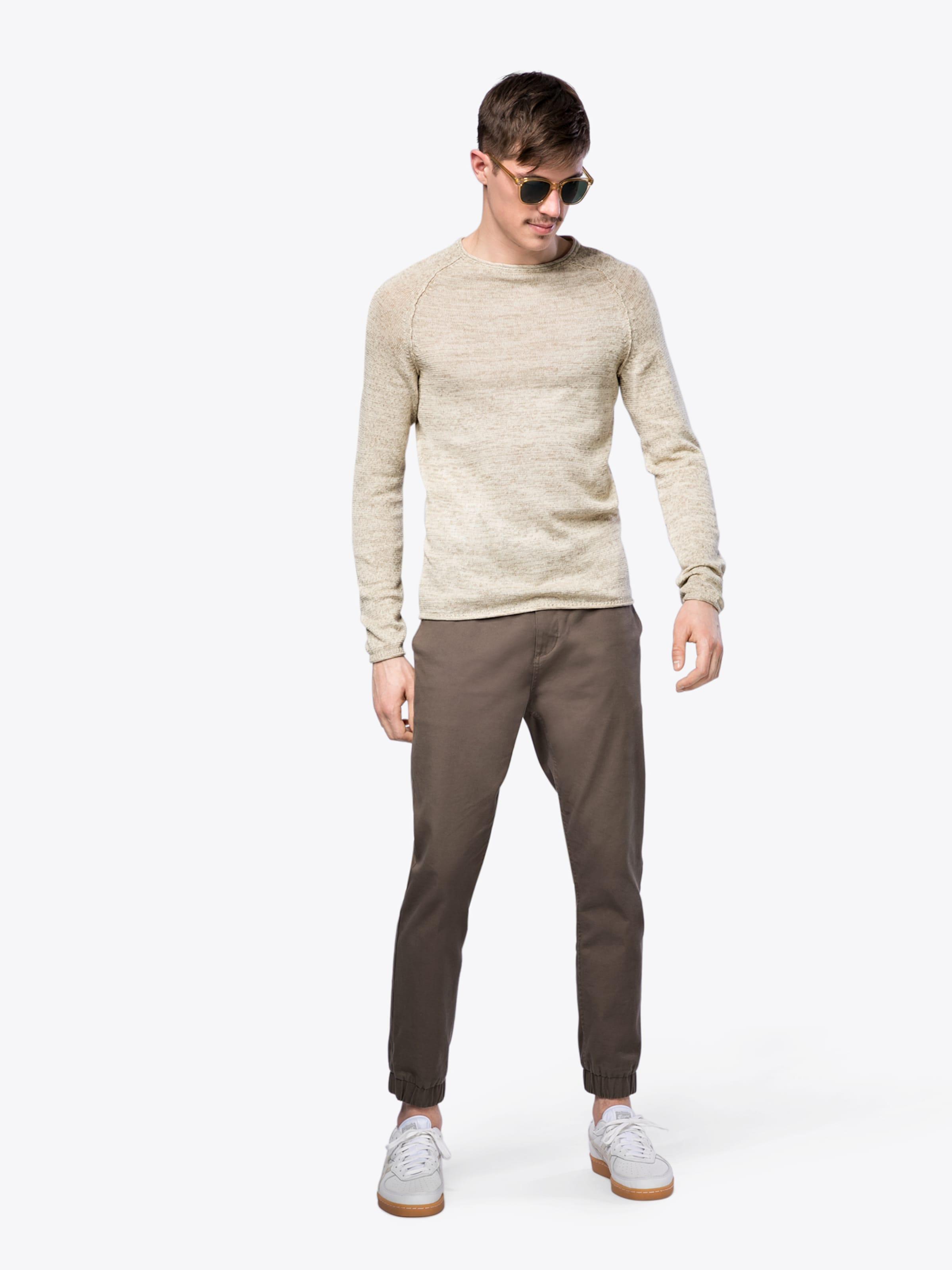 Pullover Fit Creme Im Blend Slim In wPnN0Ok8X