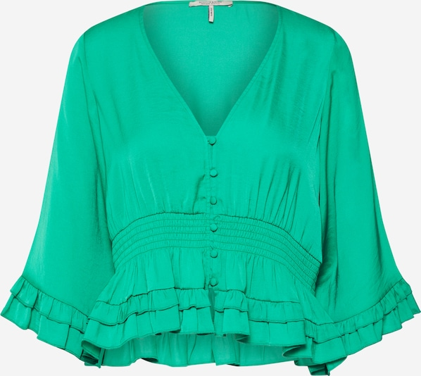 SCOTCH & SODA Blouse in de kleur Groen, Productweergave