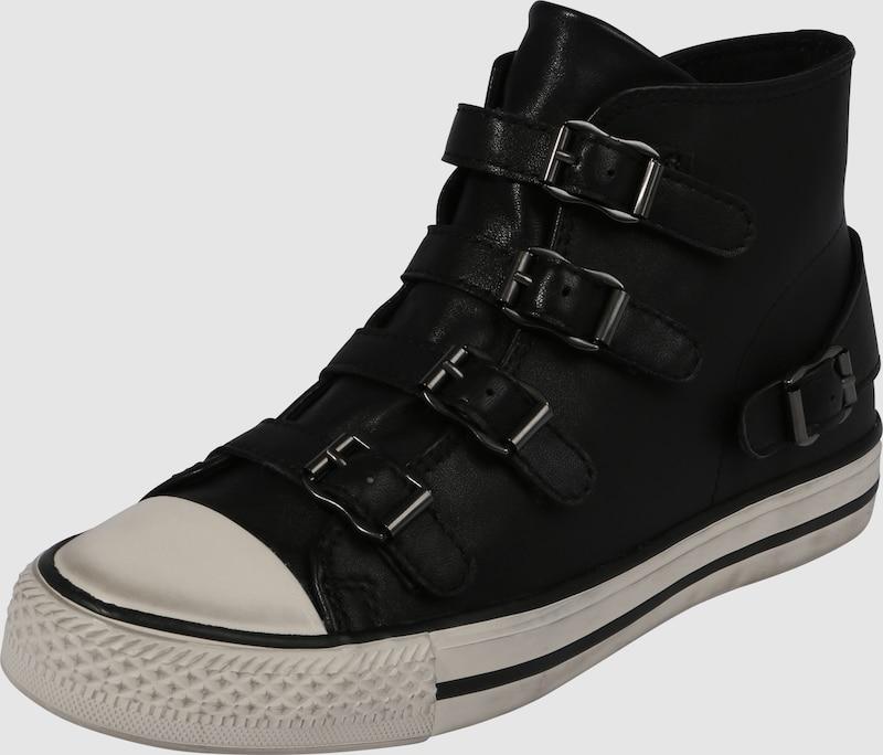 ash hoher sneaker 39 venus 39 mit schnallen in schwarz about you. Black Bedroom Furniture Sets. Home Design Ideas