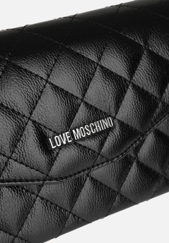 Love Moschino Schmale Umhängetasche mit Steppnähten