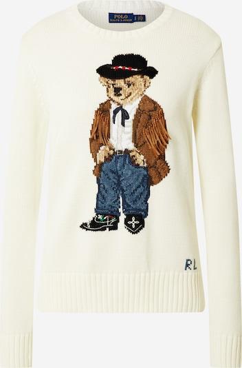 POLO RALPH LAUREN Sweter w kolorze kremowy / mieszane kolorym: Widok z przodu