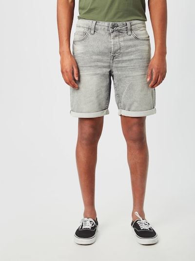 Only & Sons Jeansshort in grau, Modelansicht
