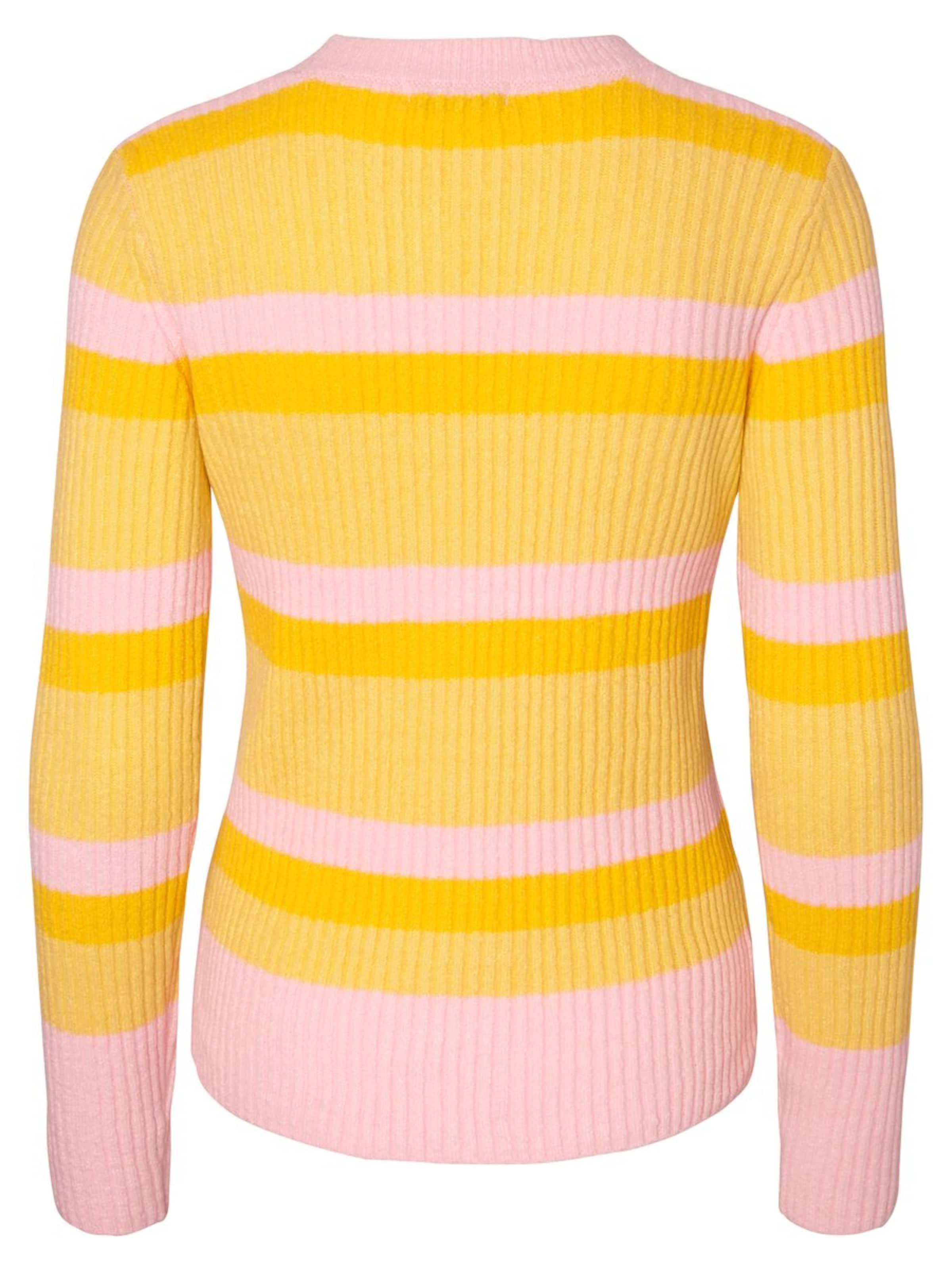 Pieces shirt En Ls Rose 'pcbelka JauneClair Knit' T ZPX80kNnwO