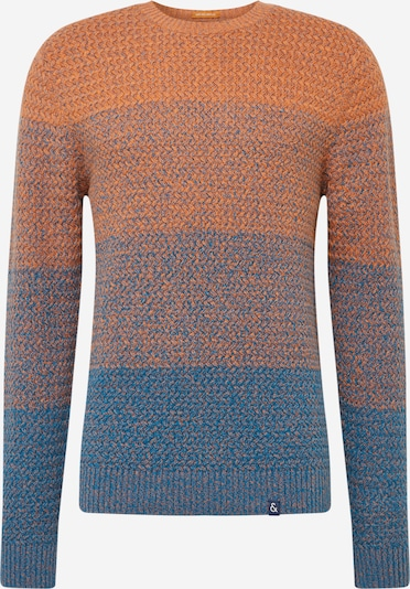 COLOURS & SONS Pullover 'o-neck degrade' in blau / orange, Produktansicht