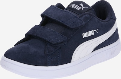 PUMA Baskets 'Smash' en bleu foncé / blanc, Vue avec produit
