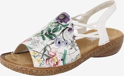 RIEKER Sandaalit värissä sekavärit / hopea / valkoinen, Tuotenäkymä
