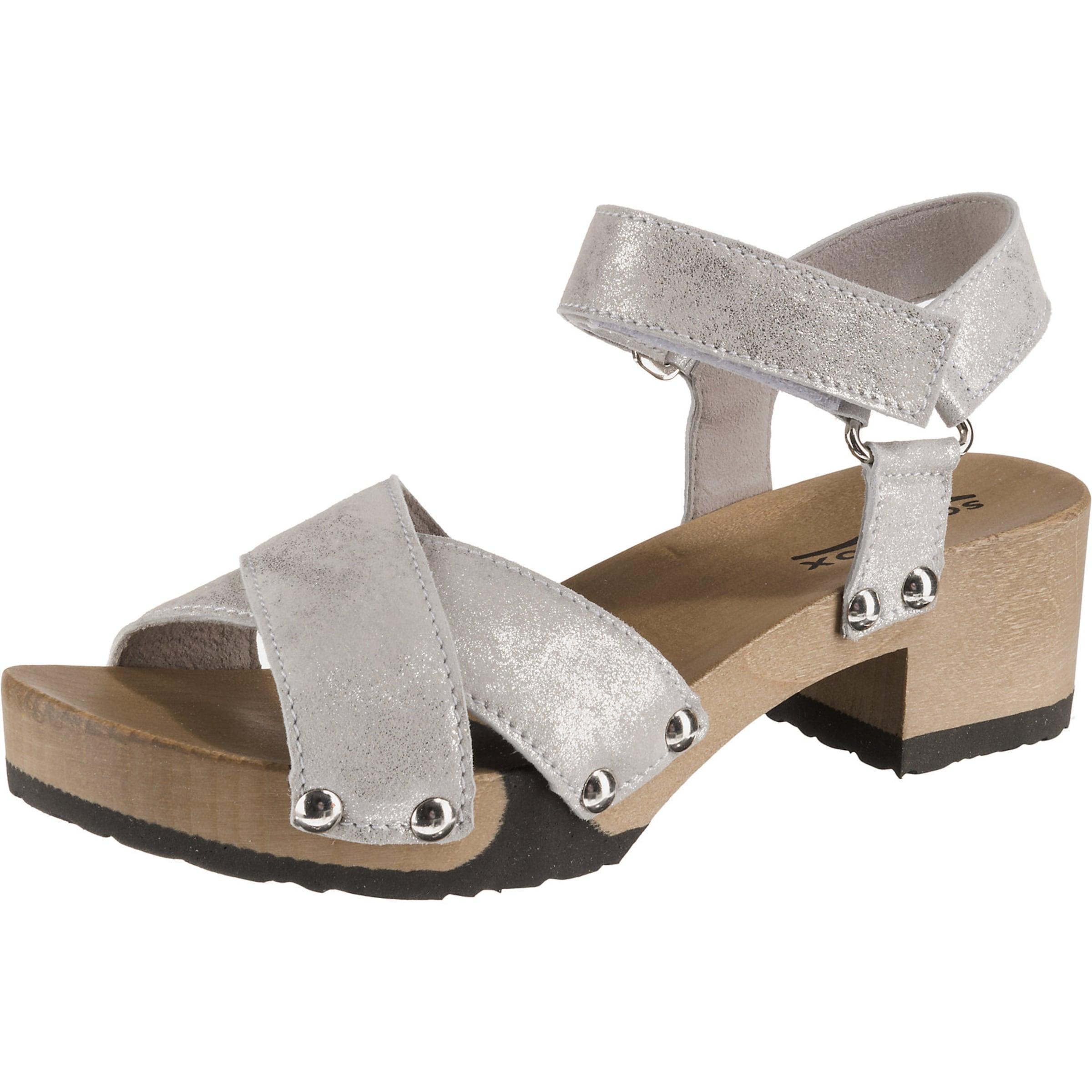 'palma' Silber Plateau In Softclox sandaletten HellbraunHellgrau hQtrsd